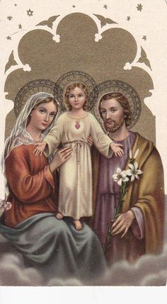 Set of TWO  Holy Family Cards by FunerealEphemera on Etsy, $11.00