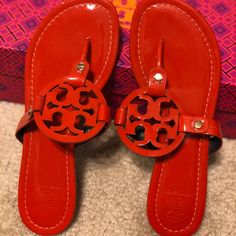 eaec63183ba Shop Women s Tory Burch Orange size 7 Sandals at a discounted price at  Poshmark.
