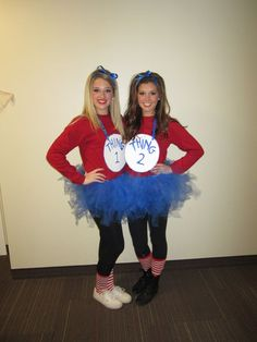 thing one and thing two halloween costume for best friends - Easy Homemade Halloween Costumes For Teenage Girl