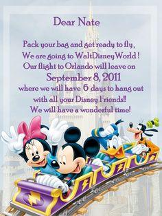Invite to Disney World