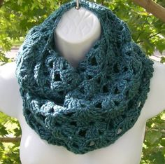 Beautiful Luxurious Blue Infinity Cowl Scarf