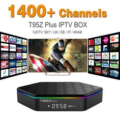 78.99$  Buy now - http://aliauu.worldwells.pw/go.php?t=32753419221 - Octa Core Android Arab IPTV BOX T95ZPLUS Free 1400 Europe Arabic IPTV Channels S912 2GB/16GB TV Box KODI WIFI H265 Media Player