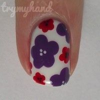 How to paint a floral nail. Nail Art Tutorial : Floral Nails - Step 7