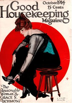 Coles Phillips - Good Housekeeping Magazine cover (October 1914)