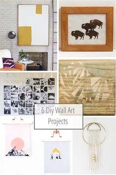 6 Diy Wall Art Projects