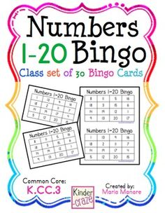 Numbers 1-20 Bingo - featuring Numbers in the Teens   # Pin++ for Pinterest #