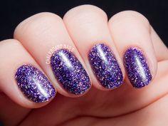 Purple Rockstar Gel Nails by @chalkboardnails