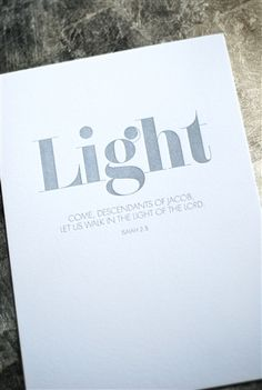 light - silver letterpress frameable art | design by  Judy Ko