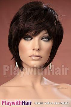 Stylish Short Razored WIG Cappucino Brown   eBay