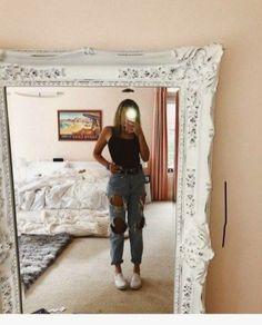 44 Ideen für die besten Sommerjeans-Outfits 22 44 ideas for the best summer jeans outfits 22 Outfit Jeans, Jeans Outfit Summer, Summer Jeans, Hijab Casual, Cute Casual Outfits, Cute Summer Outfits, Spring Outfits, Mode Outfits, Jean Outfits