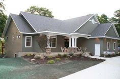 Gambrel Style log Homes | Blueprints Of Ranch Style Homes - Check Them Out