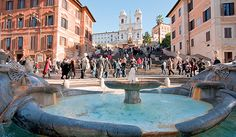 Spanish square with Spanish Steps, rome, italy