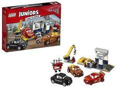 Lego Juniors Cars Smokey's Garage 116 Pieces Building Kit Kids Toy Gift New Lego Juniors, Garage, Toy, Cars, Building, Disney, Gift, Carport Garage, Autos