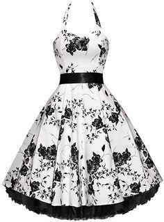 Vintage Outfits, Vintage Clothing, Vintage Dresses, Vintage Fashion, Floral Dresses, Robes Western, Western Dresses, Rockabilly Mode, Rockabilly Fashion