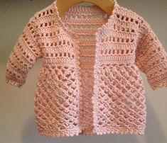 Crochet Toddler, Baby Girl Crochet, Newborn Crochet, Hand Crochet, Crochet Baby Sweaters, Knitted Baby Cardigan, Cotton Cardigan, Crochet Doll Clothes, Etsy