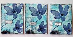 Hi everyone, I'm sharing with you today the ATCs that I made for the UK Stampers April ATC swap.   I'd like to enter my ATCs into the Try I...