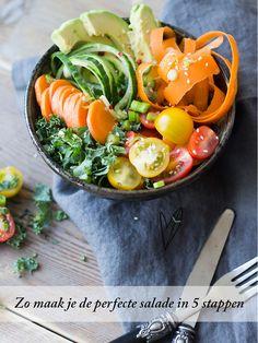 Zo maak je de perfecte salade in 5 stappen