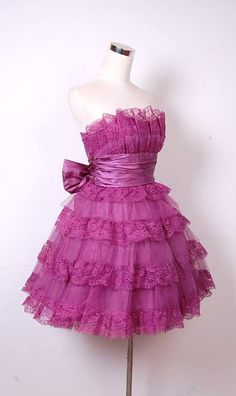 4267b090ad Betsey Johnson Evening Mini Tea Party dress in purple.