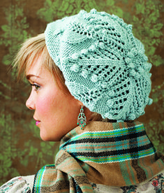 Lace and Bobbles Beret