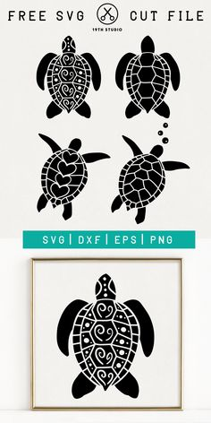 FREE | Sea turtles SVG Free SVG cut files by 19thstudio.com. These designs come in svg dxf eps and png file formats. This free svg file is perfect for t-shirts, mugs, posters, giveaway, personalized gift and your other DIY projects. This free svg file is compatible with Cameo Silhouette, Cricut and other major cutting machines! Some freebies on our website come with commercial license for commercial use. Please check the product description for more details. Silhouette Cameo Gifts, Silhouette Cameo Freebies, Free Silhouette Files, Silhouette Cameo Projects, Silhouette Design, Free Svg Fonts, Cricut Svg Files Free, Free Svg Cut Files, Cricut Fonts