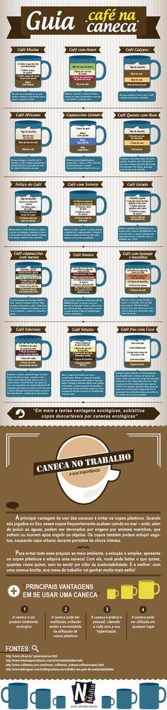 Confira nosso guia de modo de preparo de café feito em canecas, nesse infográfico voce aprende facilmente a preparar diversos tipos de cafés , tais como Café com Amor, Café Velutto e também nesse infográfico damos dicas da utilização de canecas no trabalho e suas principais vantagens, Nós da N2 Mídia produzimos canecas personalizadas confira os tipos de canecas em porcelana
