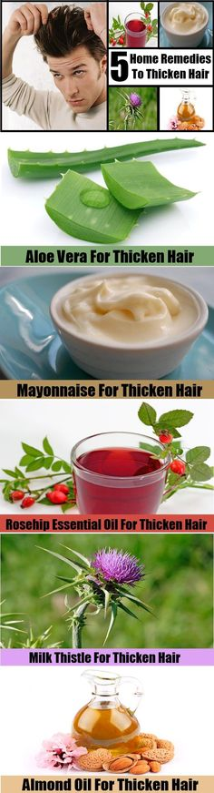 Home Remedies To Thicken Hair