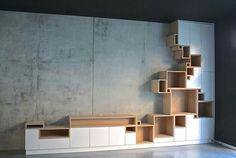 Project in gent ... tv - meubel + wandrek ... 1