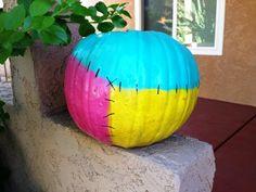 DIY Sally Painted Pumpkin   Nightmare Before Christmas