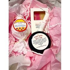 ROSE GIFT SPA SET OF SOAP, BODY BUTTER, BATH BOMB AND LIP BALM FOR VALENTINE DAY, MOTHERS DAY