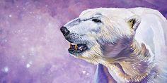 Winter's Herald by J W Baker Polar Bear Illustration, Bear Art, Drawing Challenge, Cute Animal Pictures, Watercolor Animals, Wildlife Art, Spirit Animal, Art Reproductions, Art Girl