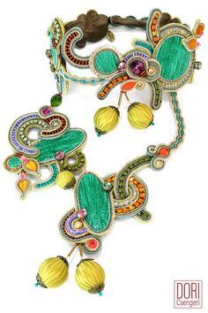 Napoli eclectic haute couture necklace by Dori Csengeri
