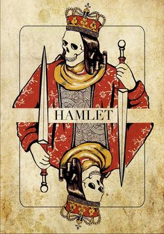 © Elif Cinbas (tintinY) | more here: http://playingcardcollector.net/2013/08/24/hamlet-playing-card-by-elif-cinbas/