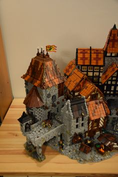 Lego Castle, Cool Lego Creations, Lego Architecture, Lego Models, Lego Projects, Lego Building, Legos, Medieval, Diy And Crafts