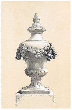 Vase N°266.  From Selection of vases, statues, busts, &c., from terra-cottas, by J. M. Blashfield, London, 1857.  (Source: archive.org)
