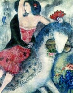 "Marc Chagall  ""Equestrian""... one has to see his work in person to appreciate the beauty... much like looking at jewels"