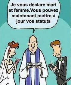 """I declare you husband and wife you may now update your status""  hahahaha this is ridiculous but true for some"