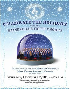 Gainesville Youth Chorus Holiday Concert Gainesville, FL #Kids #Events