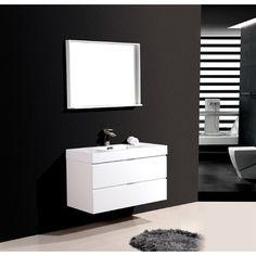 "Kube Bath Bliss 40"" Single Wall Mount Modern Bathroom Vanity Set"