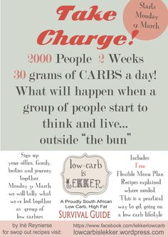 Image – Low – carb is lekker. A Proudly South African Low carb, High fat, Survival Guide Take Charge, Diabetic Friendly, Survival Guide, Menu Planning, Keto Recipes, Free Recipes, Sugar Free, Things To Think About, Low Carb