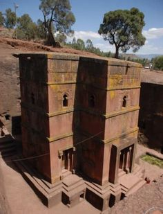 There are 13 of these churches in Africa, they are above ground and cut directly out of the ground. Some of them are solid stone. Very cool.