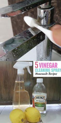 Thinking of making your own Natural All Purpose Spray? Did you know that you can use vinegar cleaning solution to clean almost anything in your home? In this article, we'll be sharing 5 vinegar cleaning spray that you can make at home today, they are super effective as a cleaning agent, and are very versatile: use them as a toilet deodorant, floor cleaner, all purpose spray and more! #vinegar #vinegarcleaning #cleaninghacks #cleaningspray #allpurposespray #vinegarcleaninghacks Bathroom Cleaning Hacks, Cleaning Spray, Household Cleaning Tips, Cleaning Recipes, Diy Cleaning Products, Cleaning Agent, Baking Soda Cleaner, Vinegar Cleaner, Vinegar Cleaning Solution