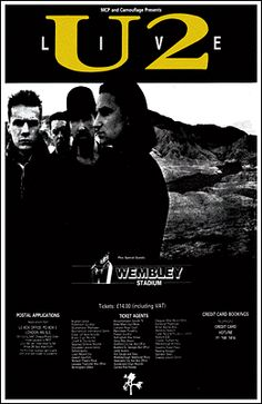U2 Concert Poster https://www.facebook.com/FromTheWaybackMachine