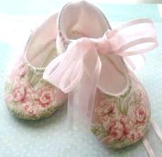Pink Rosette Slippers