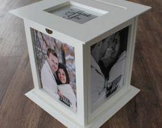 Caja de tarjeta de boda negro con ninguna por KellyMarieCollection