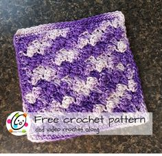 Over the weekend I whipped up an easy crocheted washcloth from some variegated purple Creme de la creme cotton yarn I had on hand. If you haven't tried this yarn I hope you will. It comes in wonderful, vibrant colors and has a lovely, smooth look to it.  I thought you might want to make one t