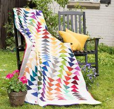 Benartex Gradations Fly Away Home Quilt - White
