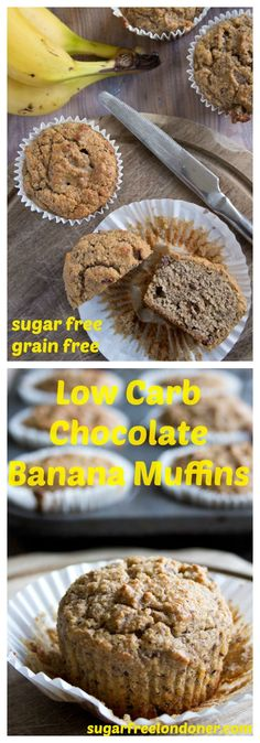 A fabulously healthy treat: These delicious Low Carb Chocolate Banana Muffins…