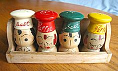 Vintage wood shaker set for sale at More Than McCoy at http://www.morethanmccoy.com