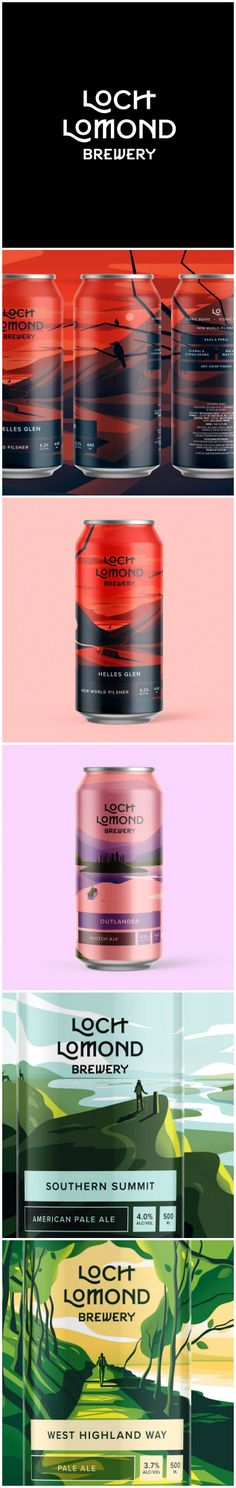 Rebranding for Award-Winning Scottish Brewery Design Agency: Thirst Craft Brand / Project Name: Loch Lomond Brewery Rebrand: Classic Range Location: United Kingdom Category: #Beer #drinks  World Brand & Packaging Design Society