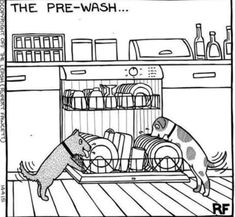© Off The Leash Dog Cartoons / Rupert Fawcett The Pre Wash Funny Animal Pictures, Dog Pictures, Funny Animals, Cute Animals, Animals Dog, Love My Dog, Dogs Tattoo, Tattoo Silhouette, Dog Jokes